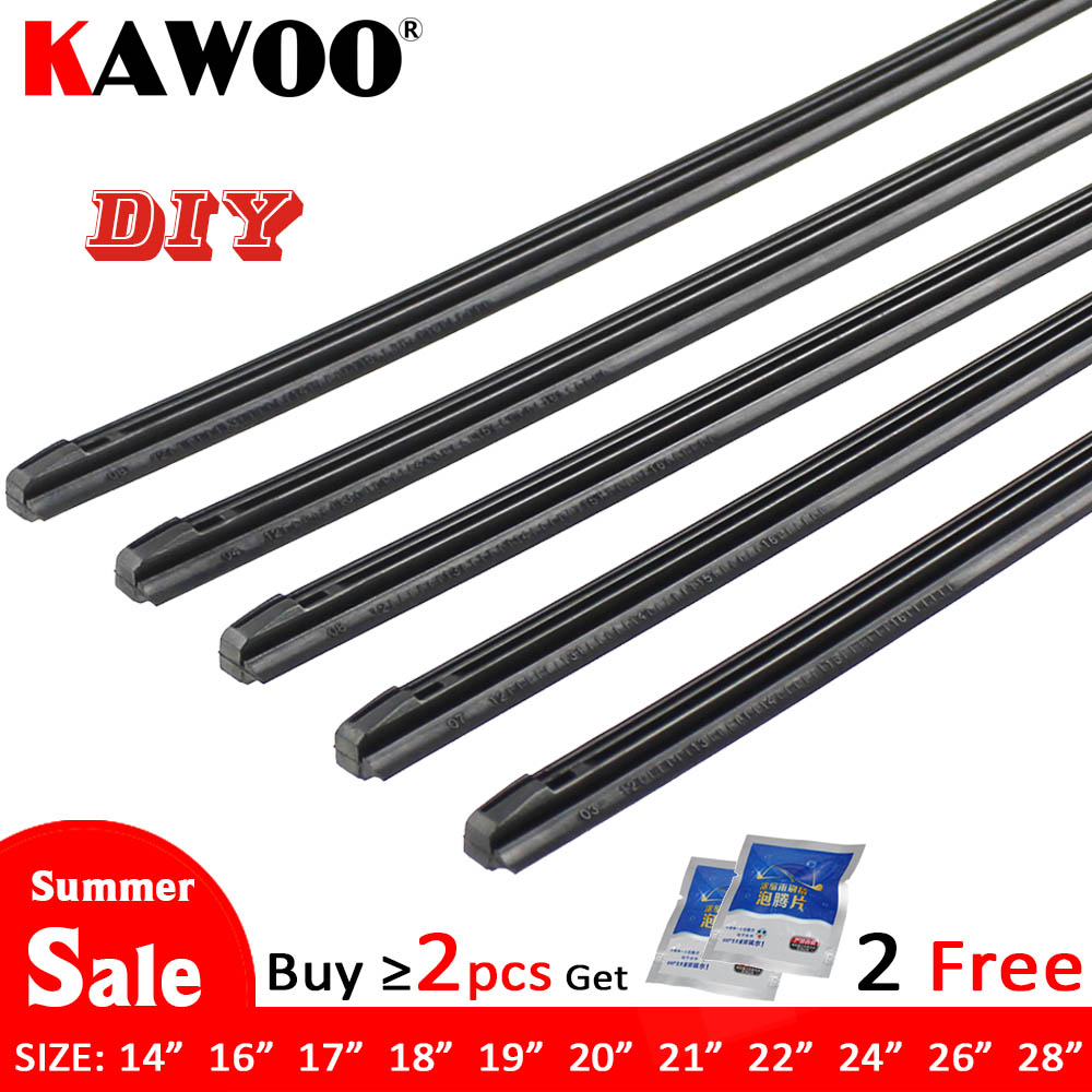 "KAWOO Car Vehicle Insert Rubber Strip Wiper Blade (Refill) 8mm Soft 14"" 16"" 17"" 18"" 19"" 20"" 21"" 22"" 24"" 26"" 28"" 1pcs Accessories(China)"