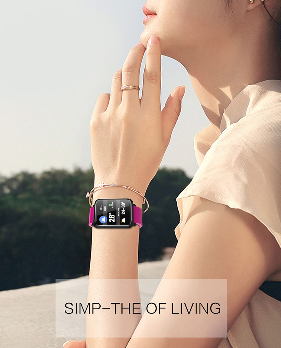 COLMI Smart Watch M28 IP68 Waterproof Bluetooth Heart Rate Blood Pressure Smartwatch for Xiao mi Android IOS Phone 9
