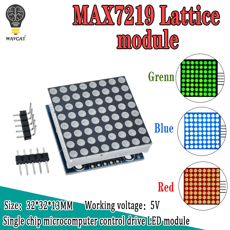 MAX7219 Dot Matrix Module Microcontroller Module Display Module Finished Goods , Can Be Together For Arduino Programming