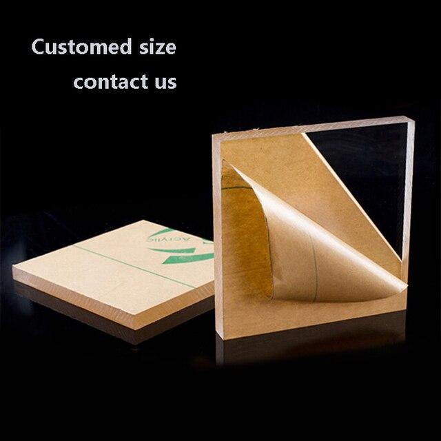 200*200 milímetros Folha de Plexiglass Perspex Acrílico Transparente Plástico Transparente Placa de Perspex Painel de vidro orgânico polimetil metacrilato