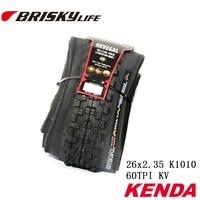 Free Shipping Kenda High Quality Mountain Bikes Folding Tires 26x2 35 K1010 For MTB