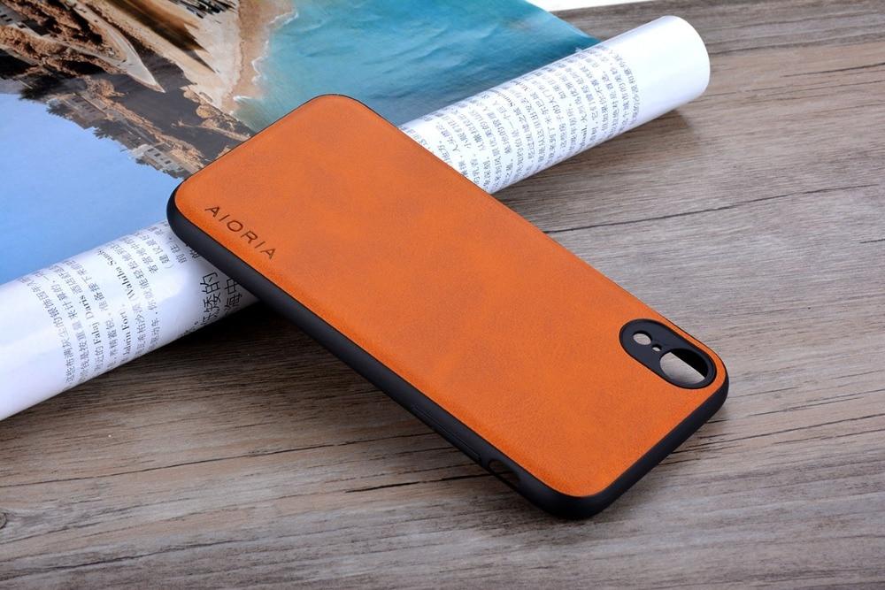 HTB1tNbjaCzqK1RjSZFHq6z3CpXan Case for iPhone XR X XS Max Luxury funda Vintage leather Skin cover hoesje for iphone xr x xs max phone case coque capa fashion