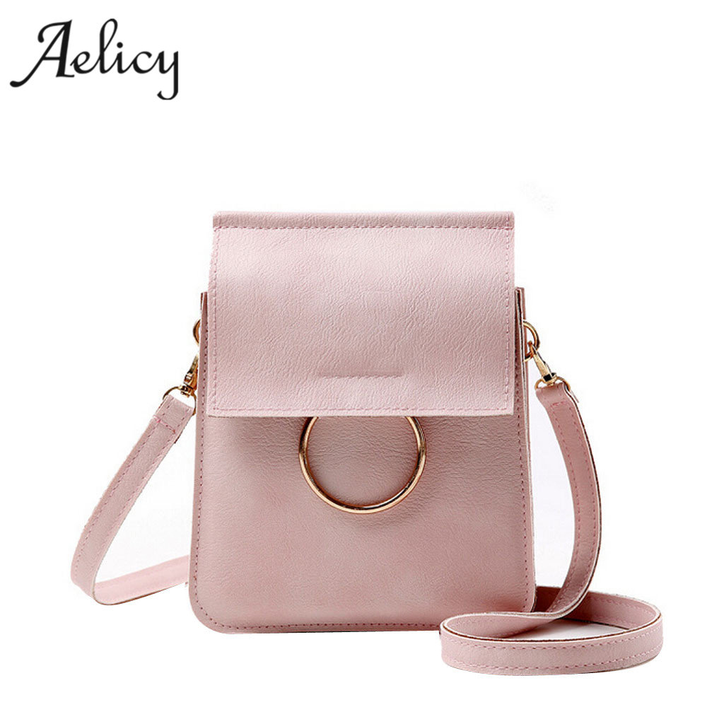 Aelicy Women Single Shoulder Messenger Phone Bag Females Leather Crossbody Shoulder Bag Bolsas Femininas Sac A Main Bolsos