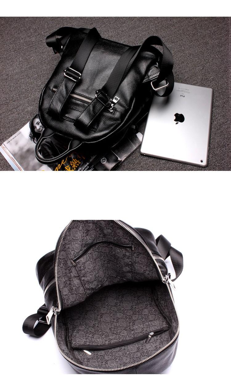women genuine leather backapck 16