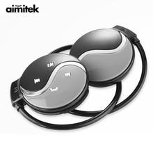 Fones de ouvido aimitek mini 603 sem fio, fones de ouvido esportivos com bluetooth, cartão tf, tocador de música com microfone para smartphones ios e android