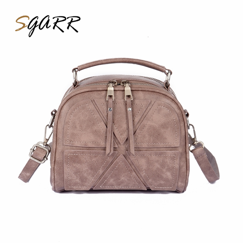 SGARR Famous Brand Women Leather Handbags Geometic Zipper Small Purse Ladies Party Shoulder Bags Fashion Female Messenger Bags sgarr red black grey brown women big tote handbag fashion large female purse ladies party hasp soft leather wine shoulder bags