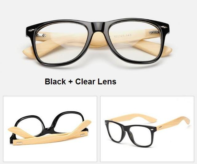 a21a283470 CHUN M14 Wood Glasses Frames Bamboo temple Eyeglass Optical Frame Eye  Glasses For Women Men Spectacle