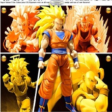 JHACG 16cm dragon ball Super saiyan 3 Son Goku Kakarotto Action figure toys doll Christmas gift with box
