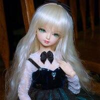 Хорошая цена BJD кукла 1/4 с серебряными волосами парик и Одежда DIY тела шарнир девушка кукла для продажи свободно лицо вверх и одевание девушк