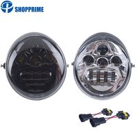 DOT E9 Harley V rod Headlight For VROD Motorcycle LED Headlight for Harley VRod VRSCF VRSC VRSCR Motorcycle Accessories