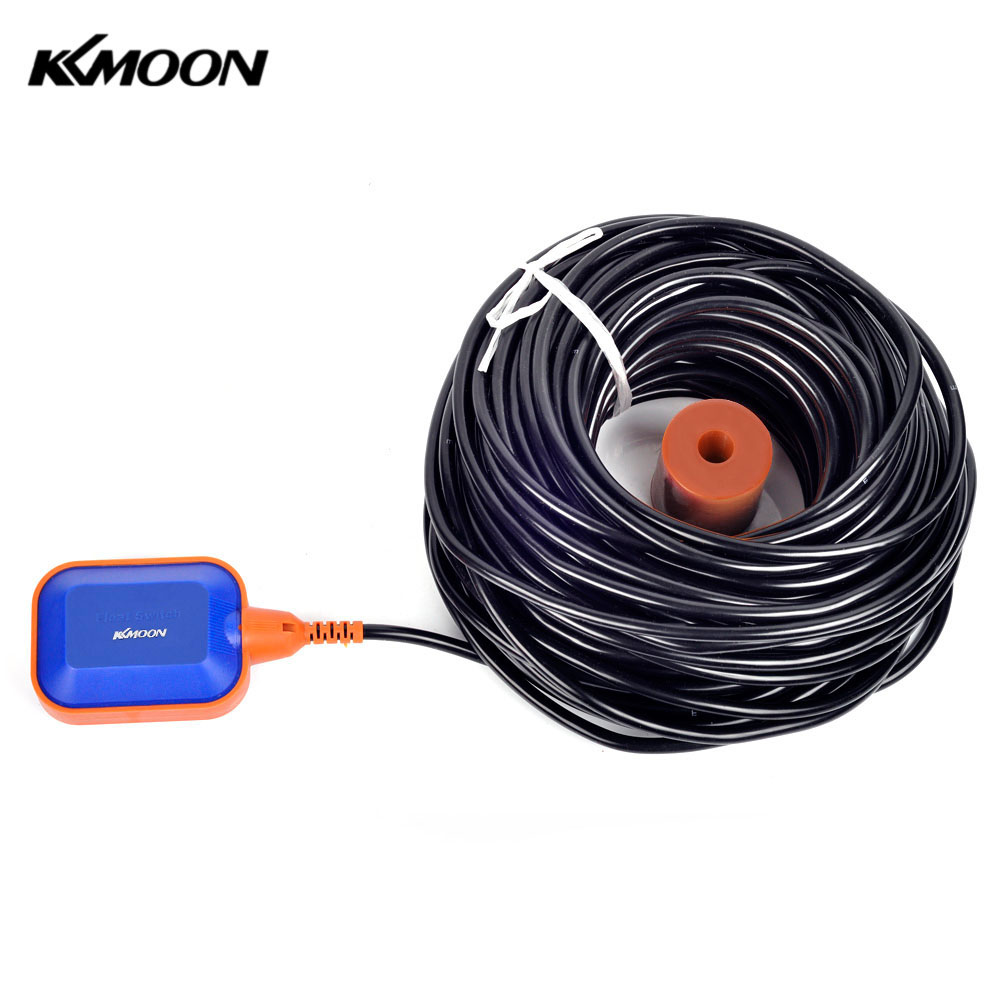 KKMOON 35m water level sensor High Quality Automatic Float Switch Square Liquid Fluid Level Controller for Water Tank Tower pool 4a 8a level float switch pp water level control for water pump water tower tank normally closed