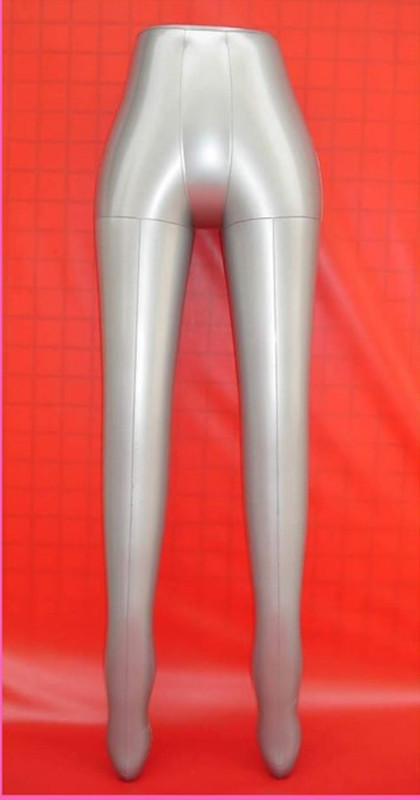 New Female Leg Inflatable Mannequin Pants Trousers Stockings Dummy Torso Model new female 3 4 body inflatable mannequin torso dummy model dress fashion display