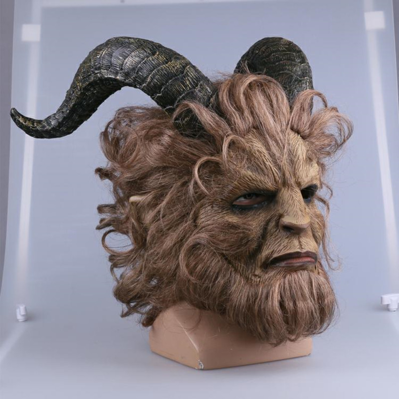Beauty and the Beast Prince Mask Horror Beast Lion Helmet Cosplay