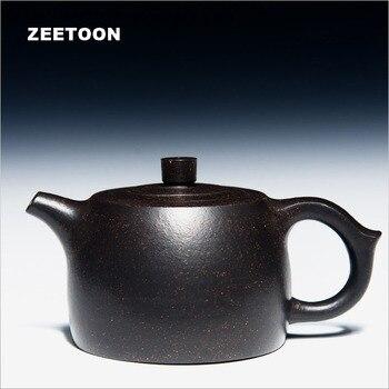 230cc Authentic Yixing Teapot Purple Clay Health Chinese Kung Fu Tea Set Master All Handmade Zisha Jing Lan Pot Kettle Teaware