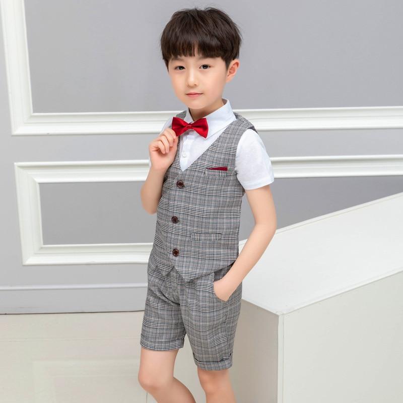 2019 summer childrens wear boys suit  Cotton clothes Fashion kids boutique causal clothing ALI 289