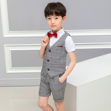 2019 summer childrens wear boys suit  Cotton clothes Fashion kids boutique causal clothing ALI 289