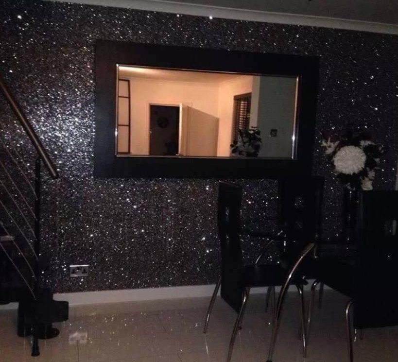 Grade 3 Rough Chunky Glitter Wallpaper Sparkly Fabric Extra Thick Wall Covering For Walls Free Fast Shipping In Wallpapers From Home