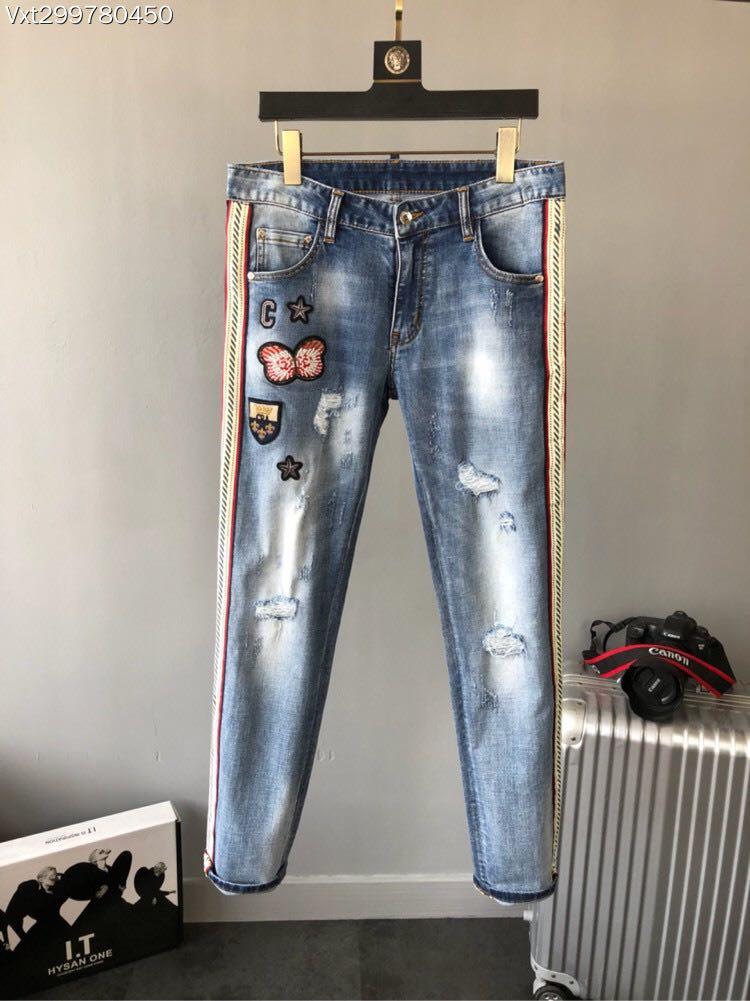 WRD0637BH Fashion Men Jeans 2018 Luxury Brands European Designer Casual Men Clothing