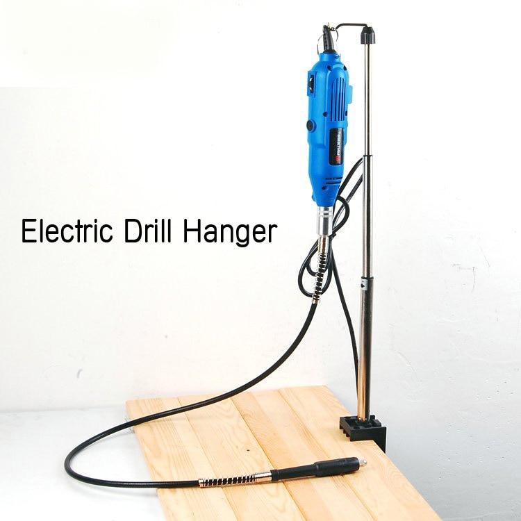 Appendiabiti da tavolo telescopico per mini trapano elettrico Smerigliatrice elettrica da utilizzare con asta flessibile Accessori Dremel Portabiti