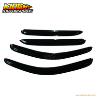 For 08 13 Silverado Sierra Crew Cab Sun Window Visor Rain Guard Vent Smoke 4Pcs