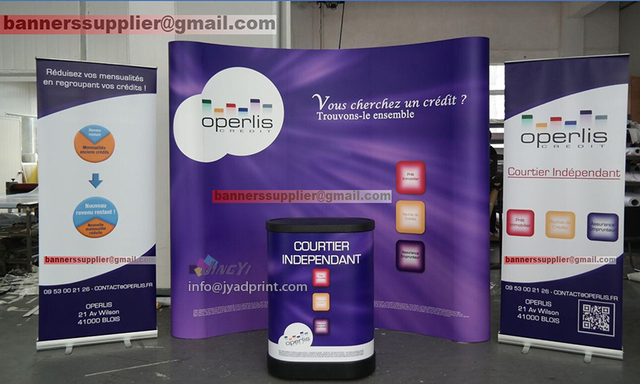 Exhibition Stand Roll Up : Quality trade show combo a pop up backdrop roll