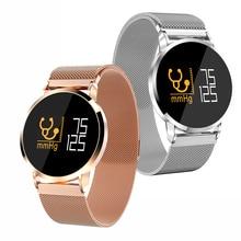 Купить с кэшбэком F1pro Smart Watch Men Blood Pressure IP68 Waterproof for Android IOS Steel leather Watch Sport Bracelet OLED Fitness Tracker