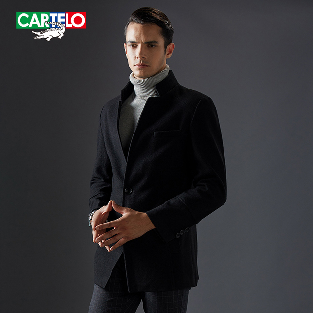 Cartelo brand 2016 brand new men wool blends winter Men's fashion business casual coat jacket cashmere overcoat