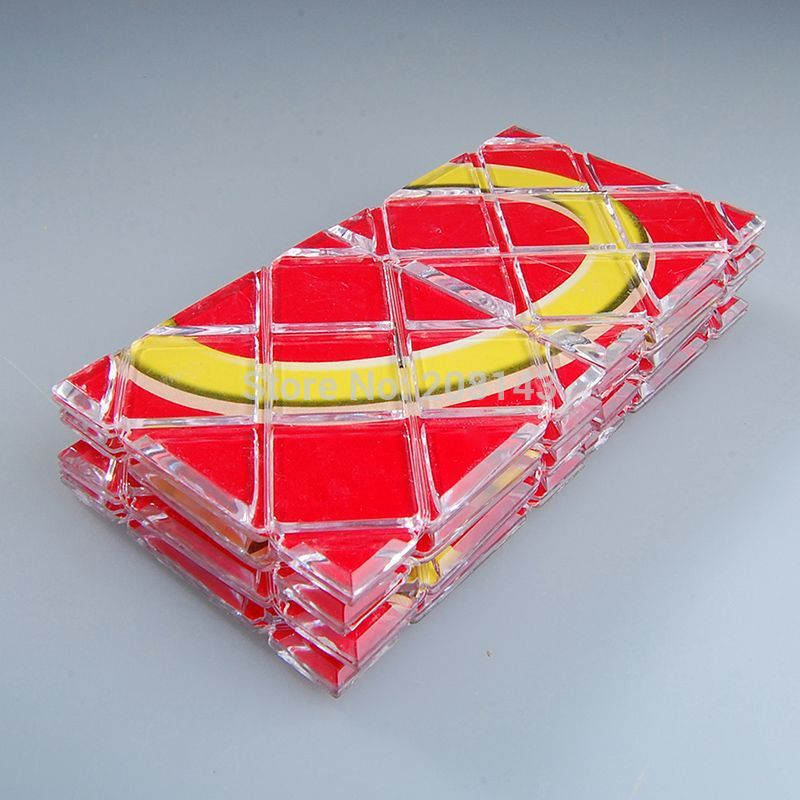 LingAo LA 8 in 1 Sheet Magic Board Magic IQ Test Cube Shimmering Red