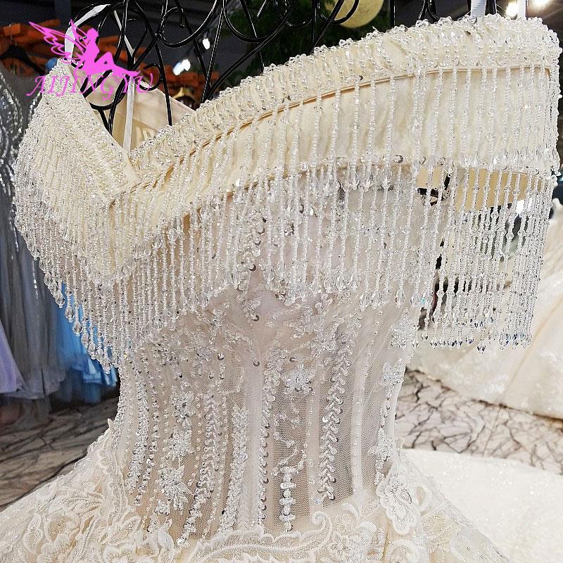 Image 4 - AIJINGYU Luxury Wedding Dress Ball Gown Lace Boho Romantic Angel Inexpensive Gowns Near Me New Wedding DressesWedding Dresses   -
