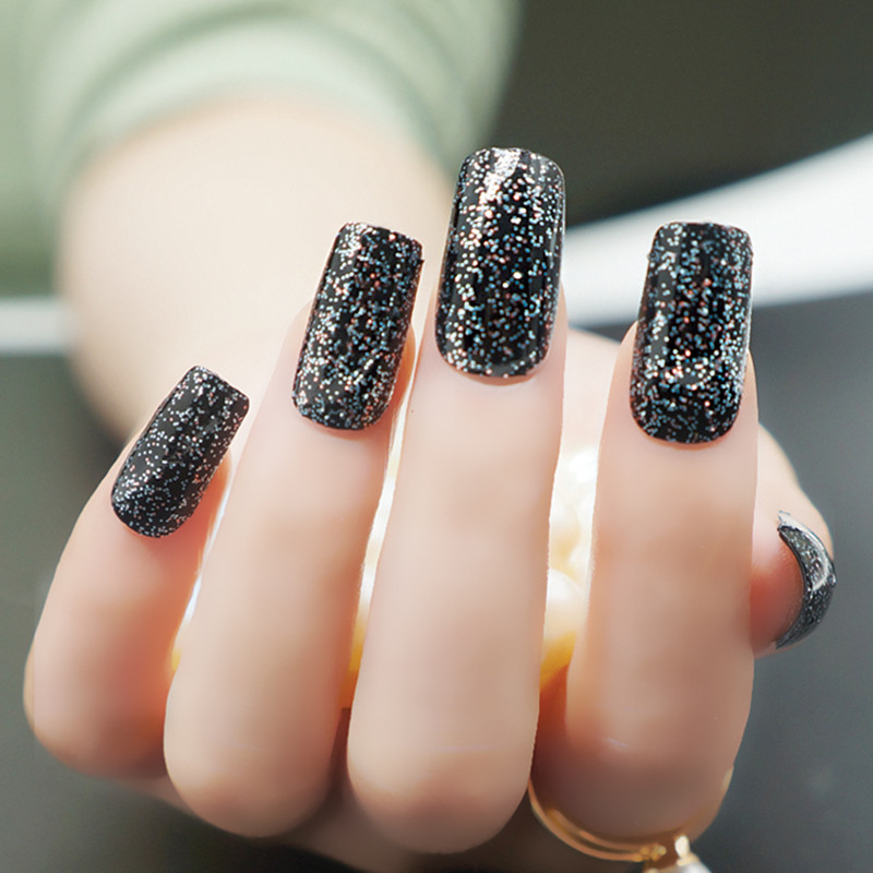 Aliexpress Nail Art Polish Strips Black Glitter Colorful Set 16pcs Fit All Nails New Sticker From Reliable Suppliers On Newair