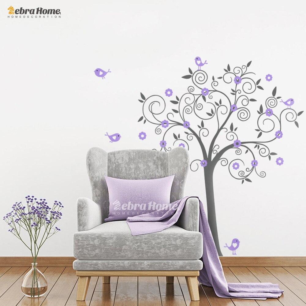 Құстар Гүлдер Өнер Винил ағашының - Үйдің декоры - фото 6