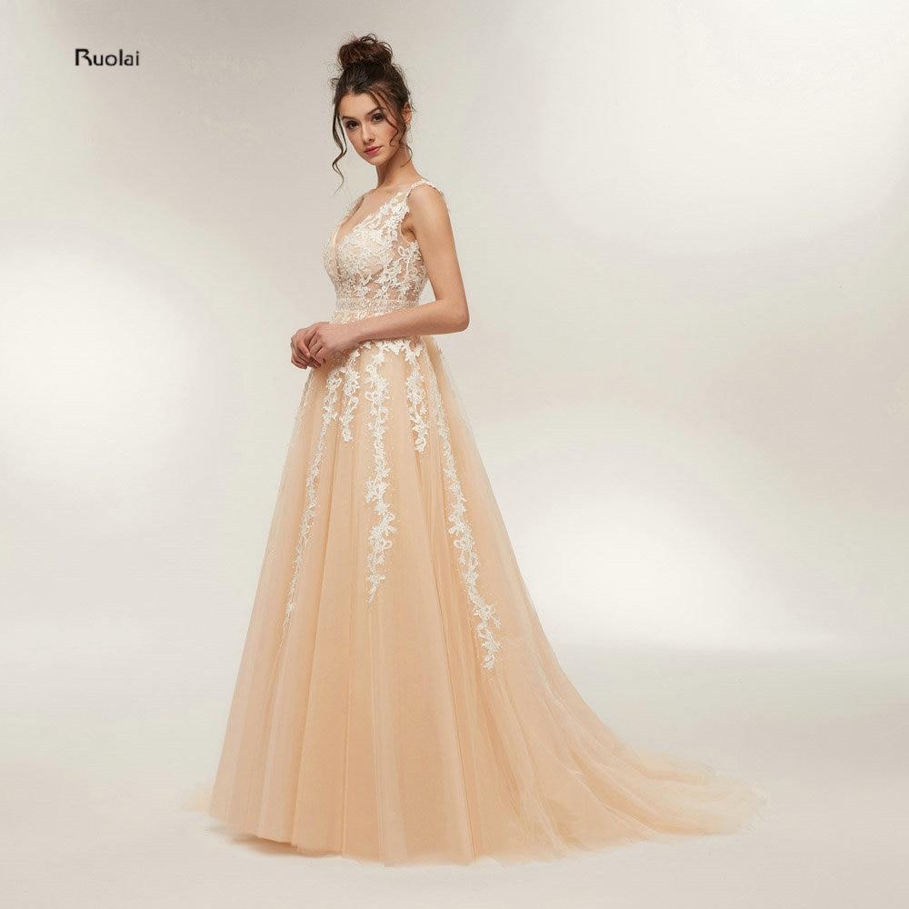 New Arrival Elegant Evening Dresses Long 2018 Evening Gown V Neck Open Back  Sexy Prom Dresses Prom Party Dress vestido de festa 3fea7c1d0162