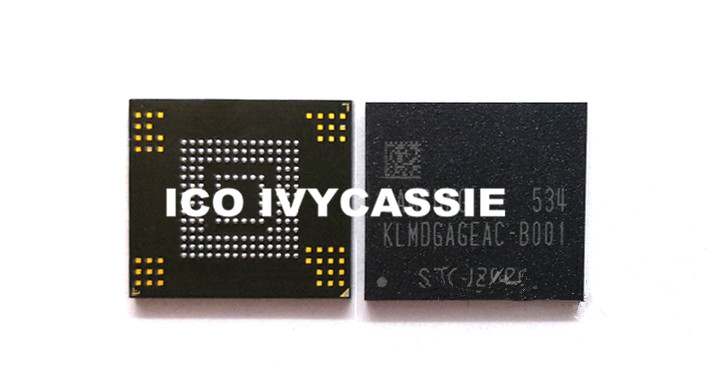KLMDGAGEAC B001 eMMC 128GB NAND Flash Memory IC Chip BGA153 Used 100 Tested Good