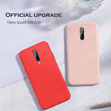 Soft Liquid Silicone Oneplus 7 pro Case Ultra Thin Full protective cover For iphone x xr xs 6 7 xiaomi 8 9 huawei p30 Phone Case(China)