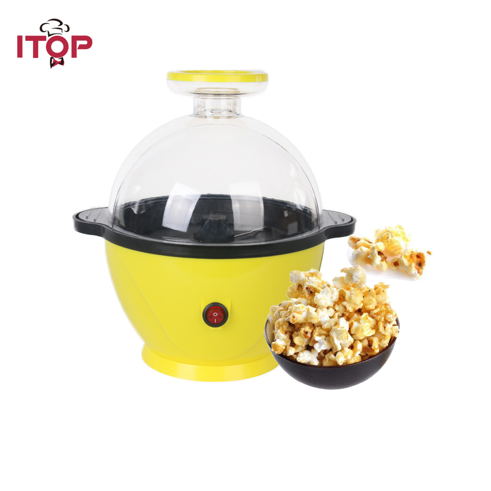 ITOP Corn Popper Automatic popcorn machine home popcorn machine oil can be put sugar sweet popcorn Children's Day gifts-in Food Processors from Home Appliances    1