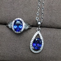 KJJEAXCMY boutique jewels Girls natural tanzantopa stone set can be substituted for certificate 925 pure silver inlays