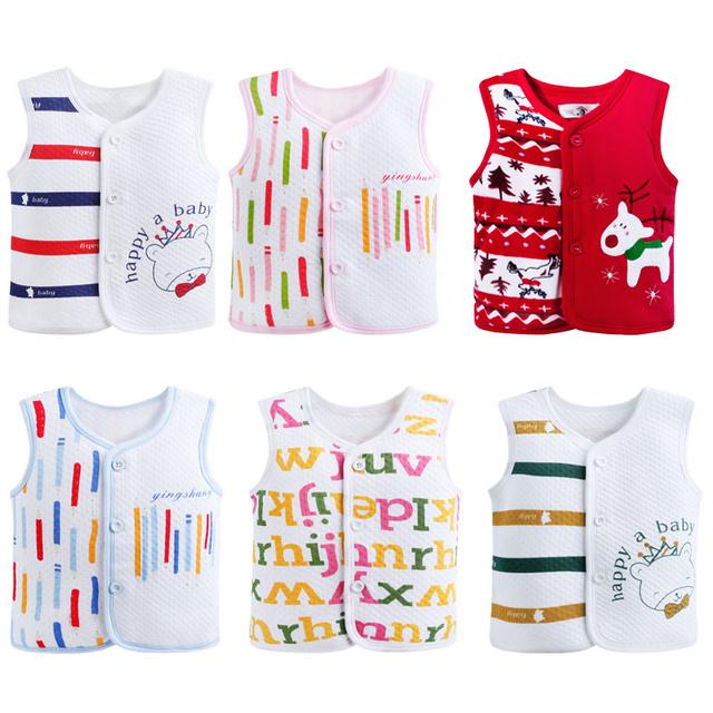 2017 de primavera y otoño 0-30 meses bebé de la historieta caliente chaleco muchacha del bebé recién nacido ropa 100% del bebé del algodón chaleco