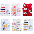 2017 spring and autumn 0-30 months cartoon baby warm vest newborn baby boy girl clothes 100% cotton baby vest
