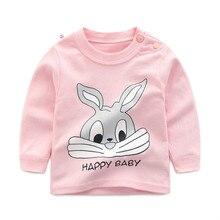 Летние топы для маленьких мальчиков и девочек, детские футболки, футболка с длинными рукавами, одежда