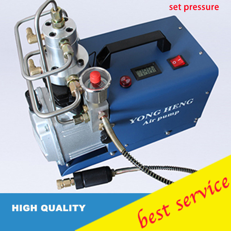 220v High Pressure Air Pump Electric Air Compressor for Pneumatic Airgun Scuba Rifle PCP Inflator automatic stop double cylinder pcp electric air pump 220v 50hz high pressure paintball air compressor with breath filter