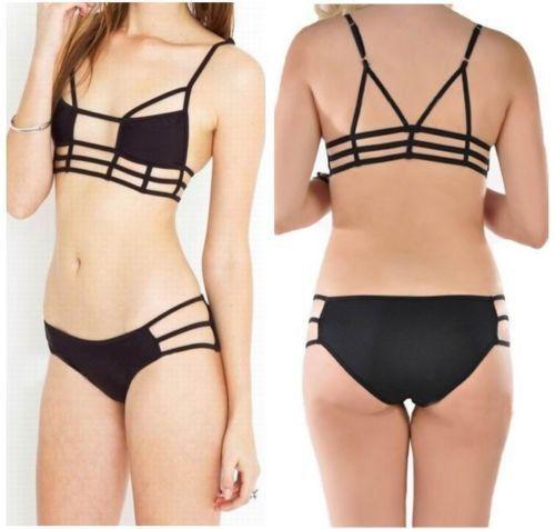 Retro cintura com tiras Swimsuit mulheres Biquini Bathingsuit Bikini acolchoado Push Up Bra Swimwear Bandage sl # 77
