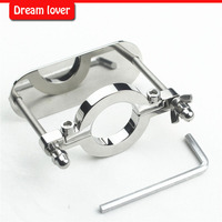 Stainless Steel Scrotum Bondage BDSM Ball Stretcher Scrotal Fixture Male Chastit