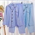 Японский бренд хлопка марли мягкой мужские пижамы для мужчин пижамы с длинным рукавом домашней одежды костюм домашней одежды