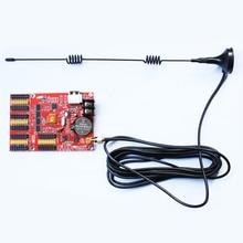 Sinal conduzido 12 v tela led p6 p5 levou uso w63 HD-W63 wi-fi levou exibição cartão de controle