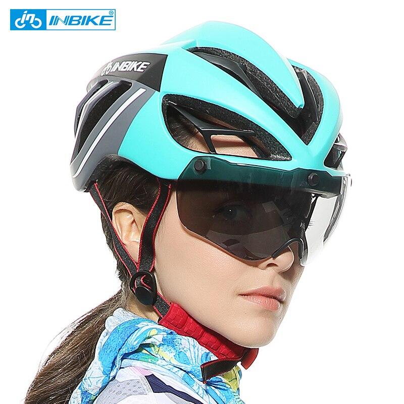 INBIKE велосипедный шлем Магнитные очки горные шоссейные велосипедные шлемы солнцезащитные очки велосипедные очки 3 линзы велосипедный шлем