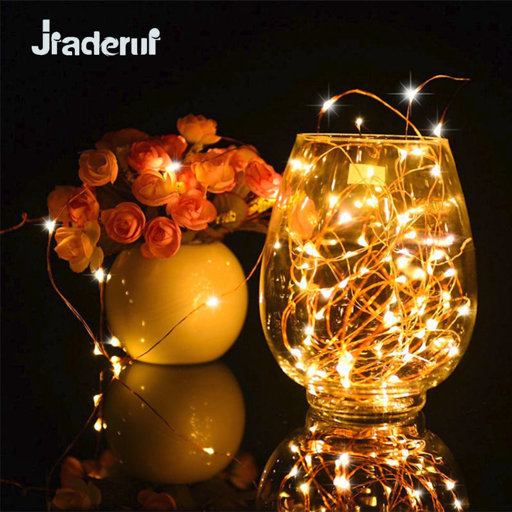 Jiaderui LED Christmas Light New year Party Decor Lights Silver Copper Wire Invisible Starry Twinkle String Fairy Lights Battery