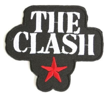 THE CLASH Star Logo Music Band Embroidered NEW IRON ON and SEW ON Cool Heavy metal