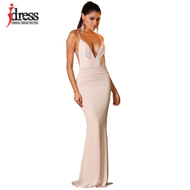 Lange jurk creme