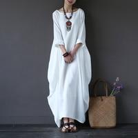 High Quality Newest Fashion Runway Maxi Dress Women S Long Sleeve Retro White Blue Red Designer