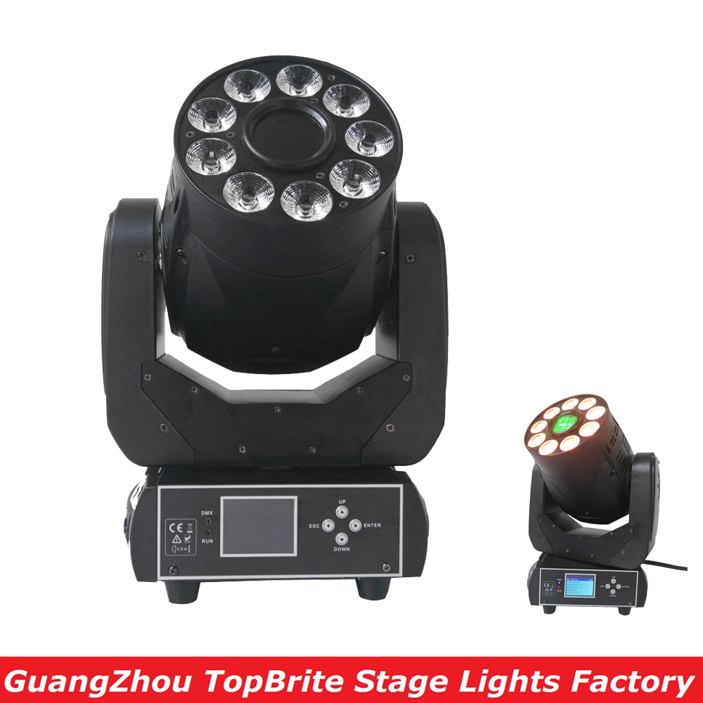 2016 New Led Moving Head Light 1x75W Spot + 9*12W Wash 2IN1 Mini Stage Lights DJ Disco DMX Party Lights with 7 Colors 6 Gobos